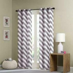 🆕️ Madison Park Chevron Pattern Window Curtains